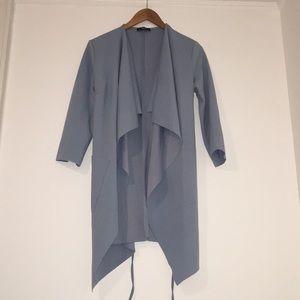 Shein Light Blue Lightweight Blazer Duster Jacket